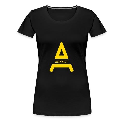 Limited Edition Gold Aspect Logo Sweatshirt - Women's Premium T-Shirt