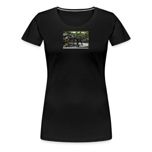 fire at will - Women's Premium T-Shirt