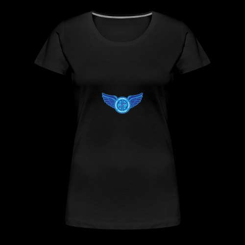 Winged Out Blue/White - Women's Premium T-Shirt