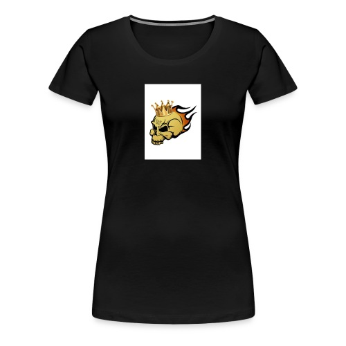 no way man king skull - Women's Premium T-Shirt