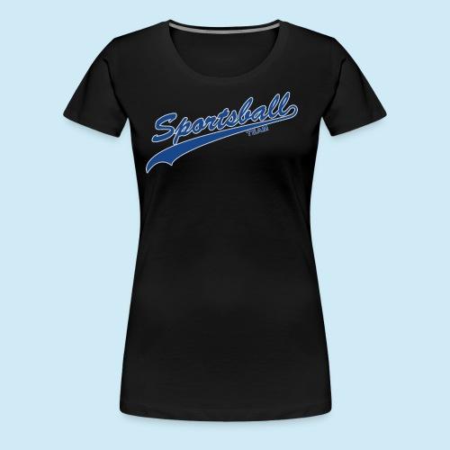 Sportsball (Blue & Silver) - Women's Premium T-Shirt