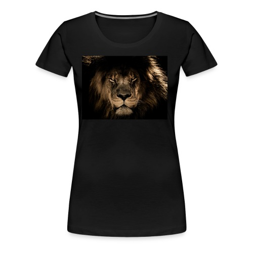 African lion face - Women's Premium T-Shirt