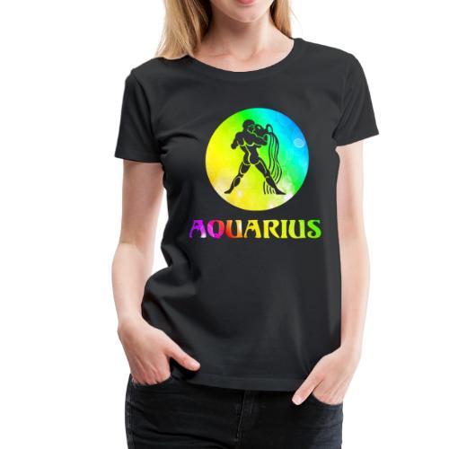 Aquarius Astrological Sign - Women's Premium T-Shirt