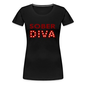 Sober Diva in Lights Gear - Women's Premium T-Shirt