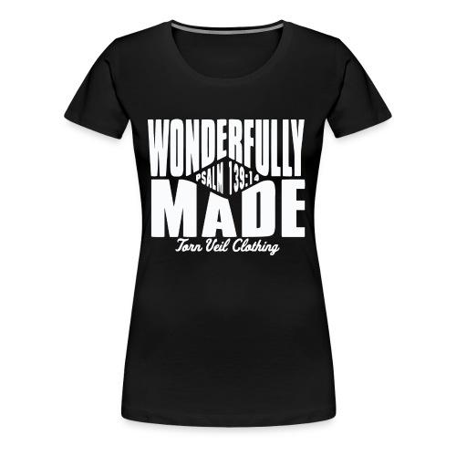 wonderfully made white - Women's Premium T-Shirt