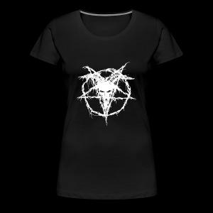 Logo Goat Only White - Women's Premium T-Shirt