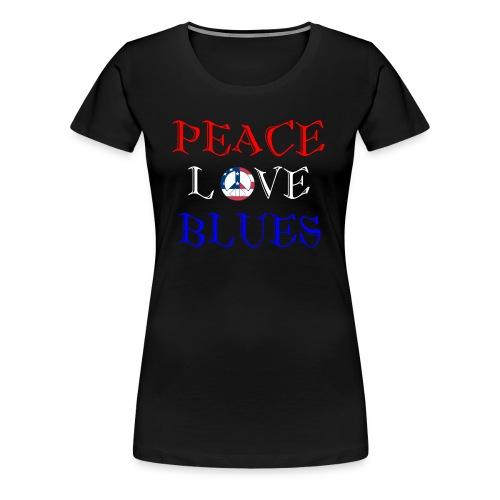 Peace, Love and Blues - Women's Premium T-Shirt
