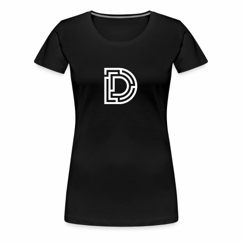 White DMaze on Black - Women's Premium T-Shirt