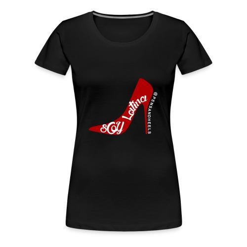SOY LATINA LOGOblackshirt - Women's Premium T-Shirt