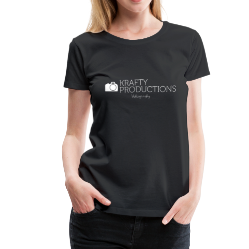 White Krafty Productions Logo - Women's Premium T-Shirt