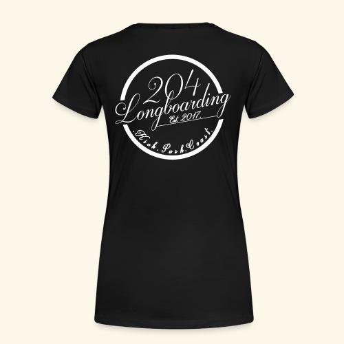Circle Logo White - Women's Premium T-Shirt