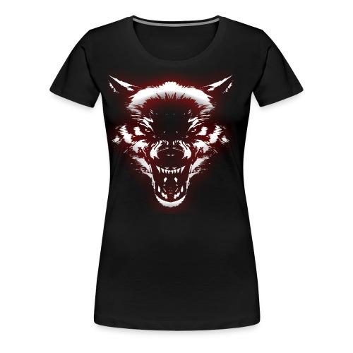Angry Wolf - Women's Premium T-Shirt