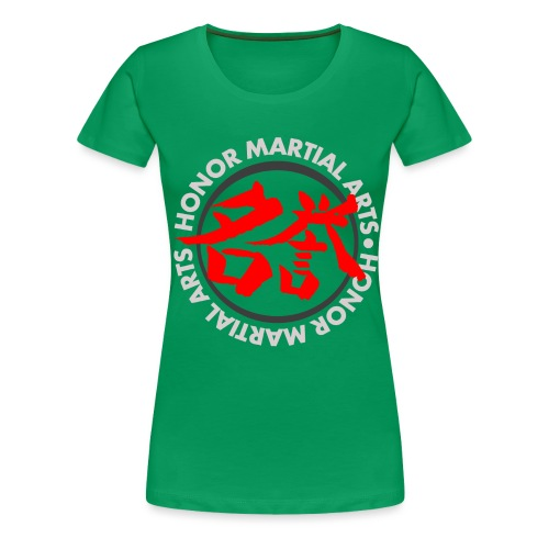 Honor Martial Arts Kanji Design Light Shirts - Women's Premium T-Shirt