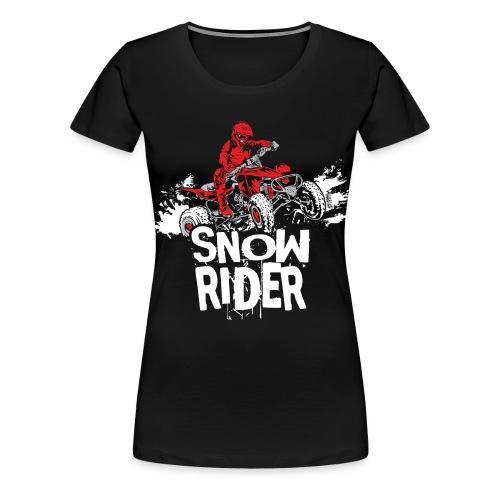 ATV Quad Snow Rider - Women's Premium T-Shirt