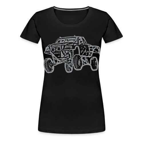 Jump Truck Grey - Women's Premium T-Shirt