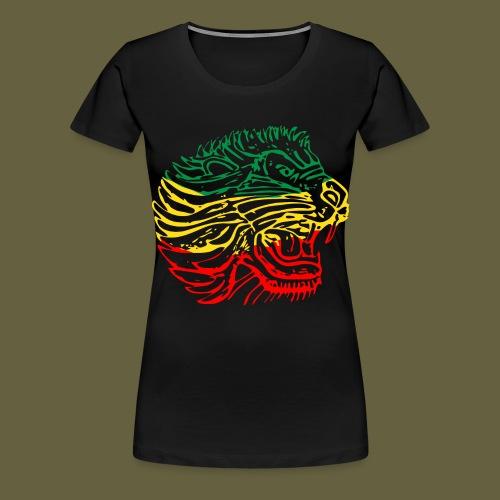 Cent Lion Head GYR - Women's Premium T-Shirt