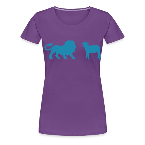 Lion and the Lamb - Women's Premium T-Shirt