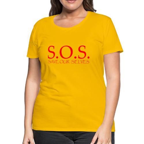 sos no emotion red - Women's Premium T-Shirt