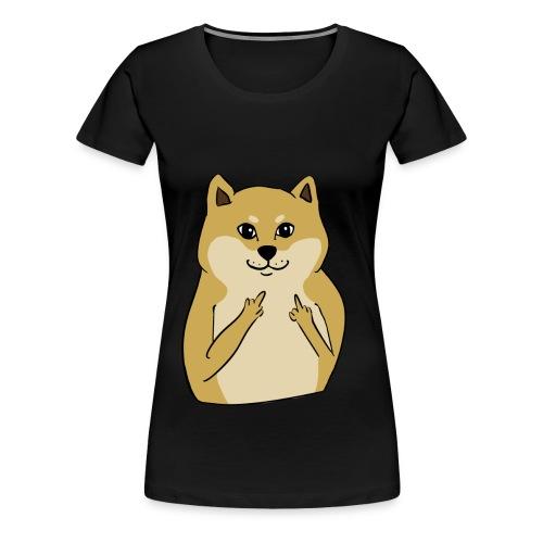doge finger - Women's Premium T-Shirt
