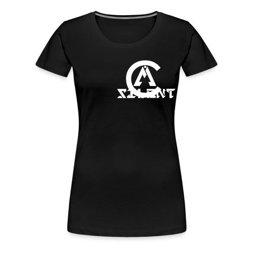 MiC logo white hirez png - Women's Premium T-Shirt