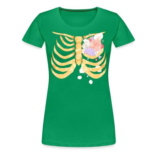 Pastel Goth Gold Rib Cage Shirt - Women's Premium T-Shirt