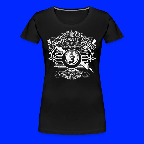 Vintage Cannonball Bingo Crest White - Women's Premium T-Shirt