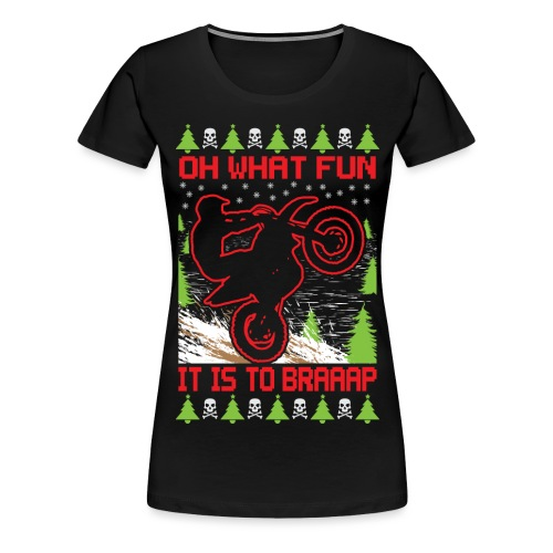 Ugly Christmas Motocross - Women's Premium T-Shirt