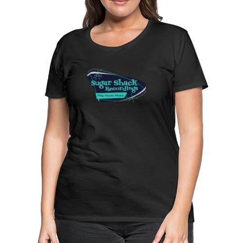 Mid Century Shack Blue Blue - Women's Premium T-Shirt