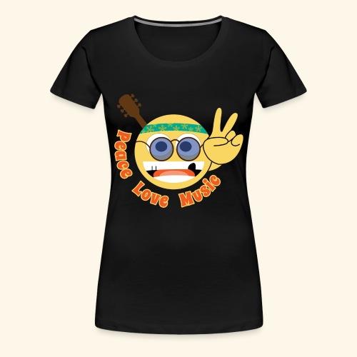 Peace love music hippie smiley - Women's Premium T-Shirt