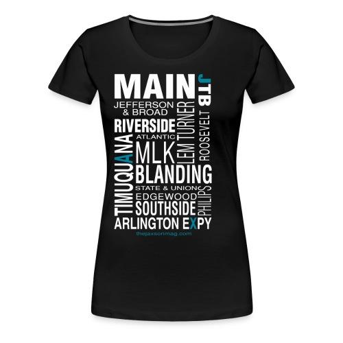 Jacksonville Streets - Women's Premium T-Shirt