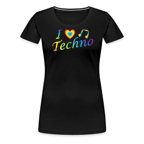 I LOVETECHNO MUSIC - Women's Premium T-Shirt