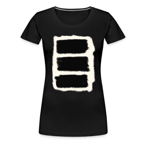 Three Black Stripes T-Shirt - Women's Premium T-Shirt