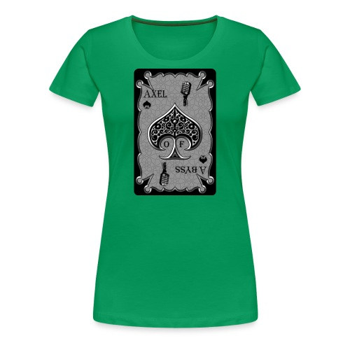 Axelofabyss Spade Card - Women's Premium T-Shirt
