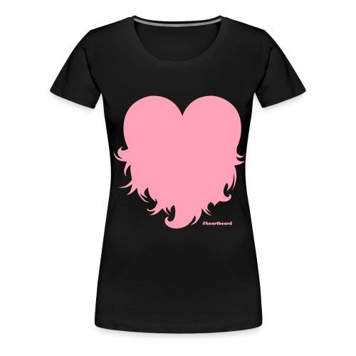 Heartbeard with text - Women's Premium T-Shirt