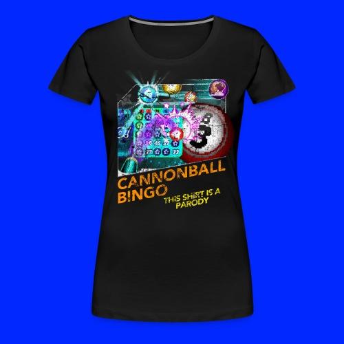 Vintage Cannonball Bingo Box Art Tee - Women's Premium T-Shirt