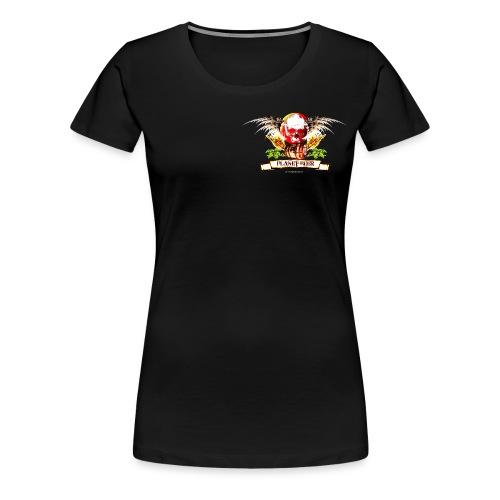 Planet Beer Skull & Keg Gothic Color - Women's Premium T-Shirt