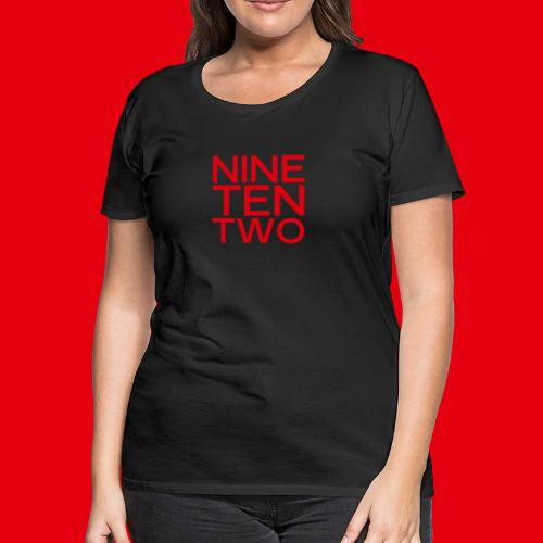 Red NineTenTwo Logo Text - Women's Premium T-Shirt