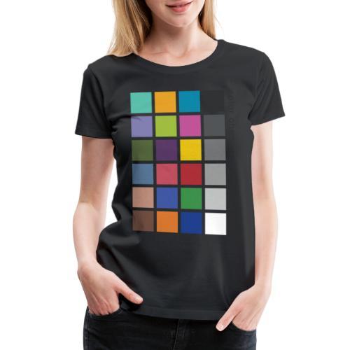Photographer's Color Checker tee - Women's Premium T-Shirt