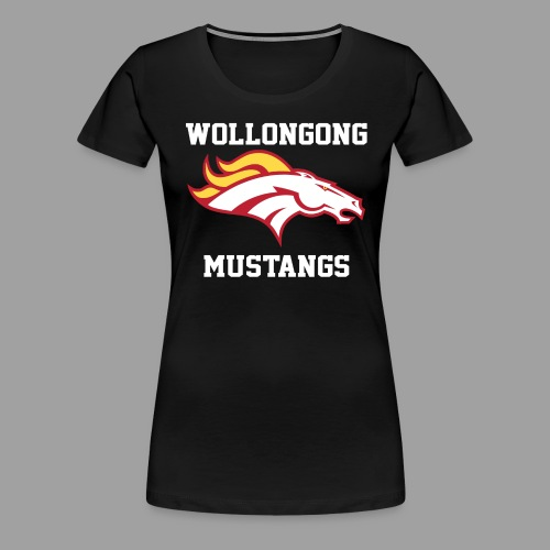 Mustangs Logo White - Women's Premium T-Shirt
