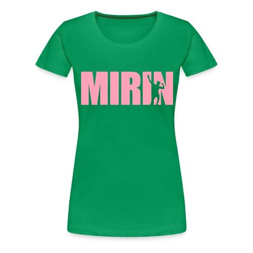 Zyzz Mirin Pose text - Women's Premium T-Shirt