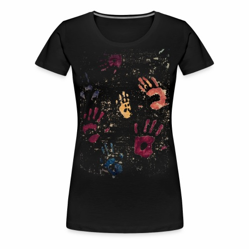 Hands paint - Women's Premium T-Shirt