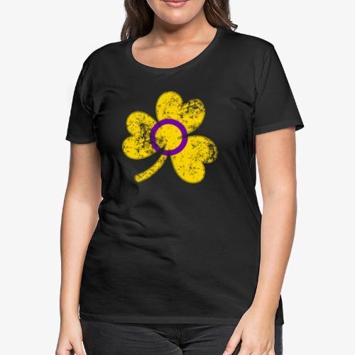 Intersex Shamrock Pride Flag - Women's Premium T-Shirt