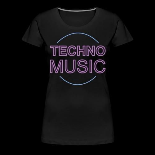 Techno Music - Women's Premium T-Shirt