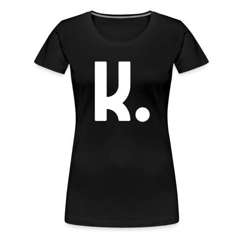K Dot Period Simple Letter K Design English - Women's Premium T-Shirt