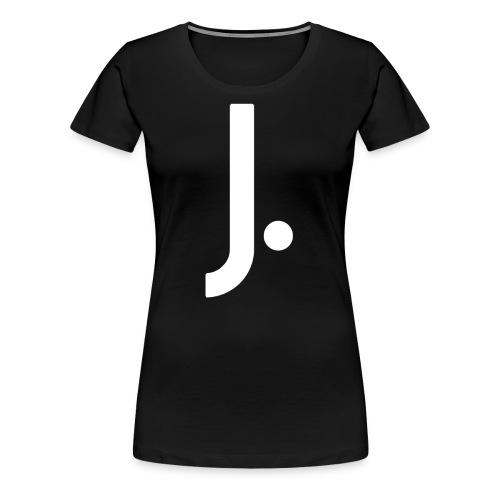 J Dot Period Simple Letter J Design English - Women's Premium T-Shirt