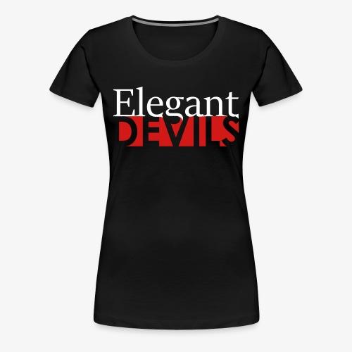 Logo White / Pink - Women's Premium T-Shirt