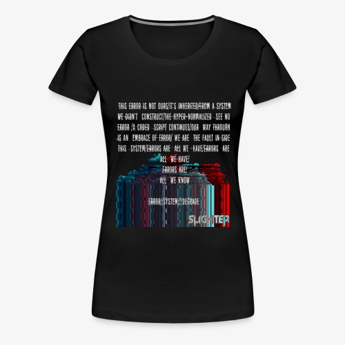 ERROR Lyrics - Women's Premium T-Shirt