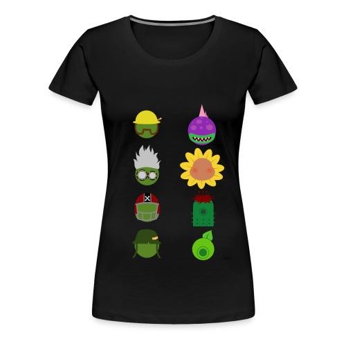 Simply PvZGW Characters - Women's Premium T-Shirt