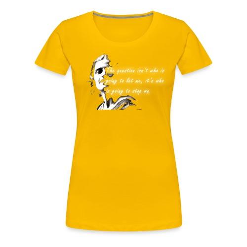 Stop me Ayn Rand on black background - Women's Premium T-Shirt