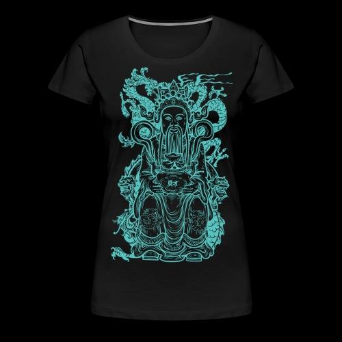 Wise Blue Monk - Women's Premium T-Shirt